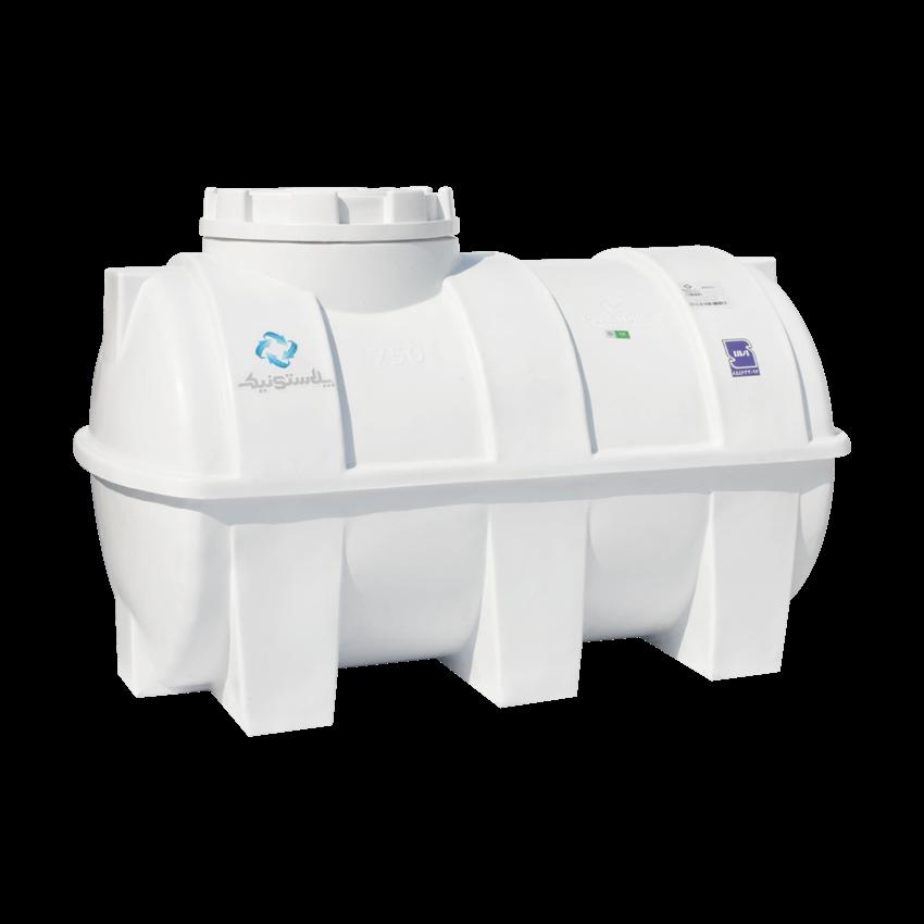 منبع پلاستیکی سه لایه ۷۵۰ لیتری افقی