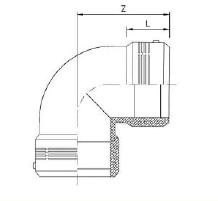 شماتیک زانو 90 درجه الکتروفیوژن