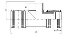 شماتیک سه راه مساوی الکتروفیوژن پلی اتیلن